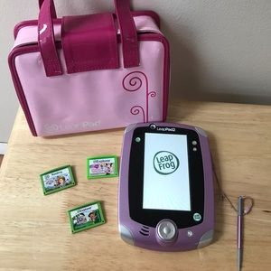 LeapFrog Leappad2 tablet, carrying case and games